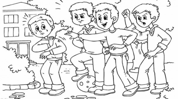 Dibujos sobre el acoso escolar a lapiz - Imagui